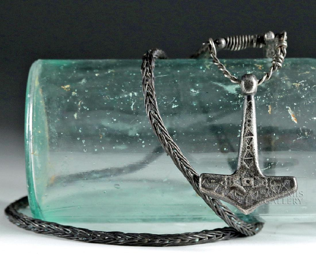 Very Important Viking Silver Necklace & Thor's Hammer