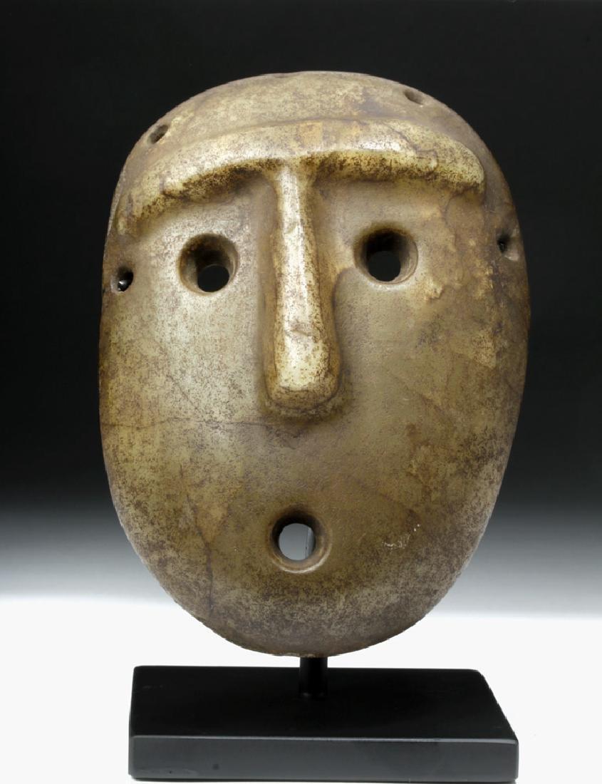 Mapuche Stone Maskette - Astonished Expression