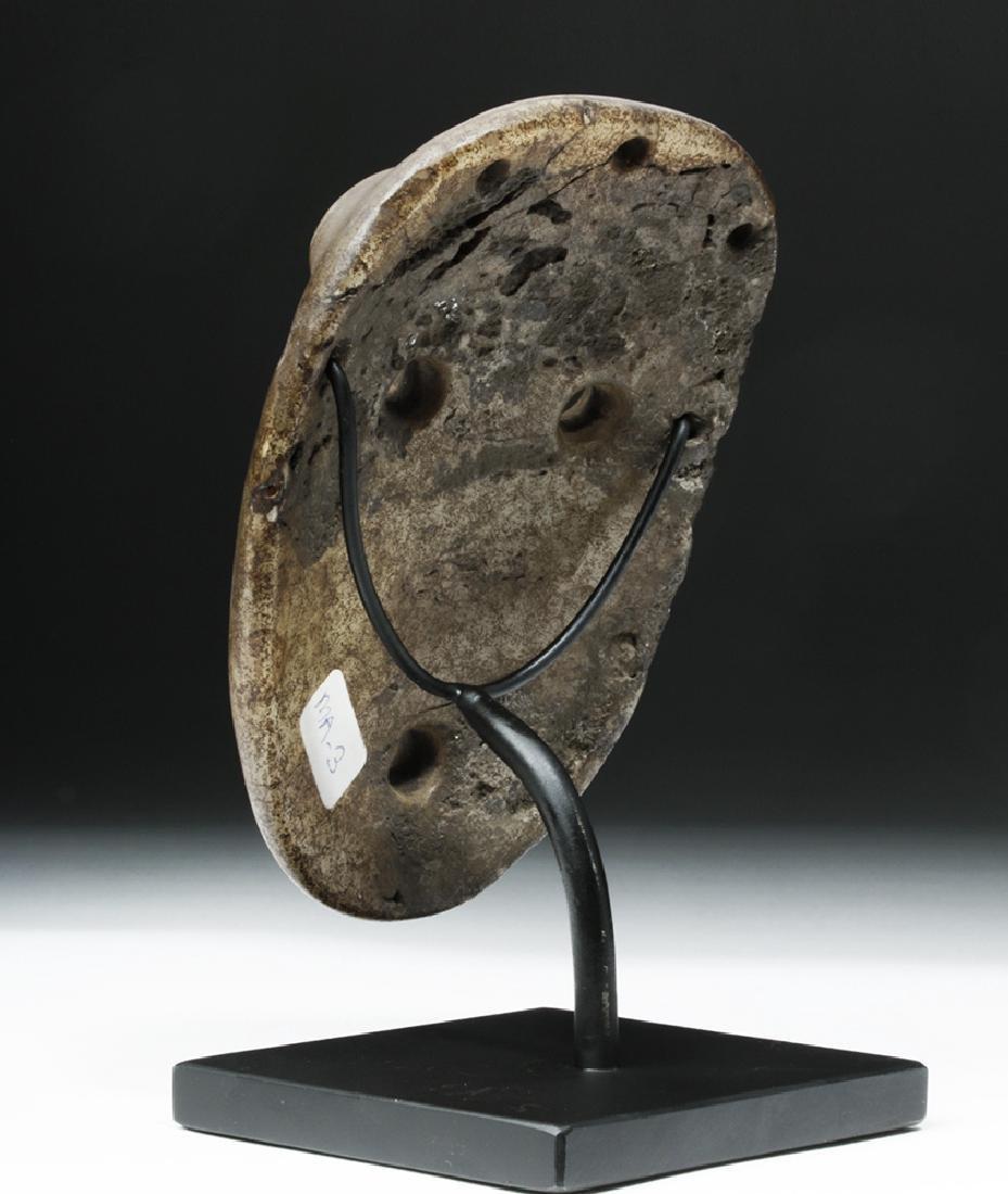 Mapuche Stone Maskette - Astonished Expression - 3