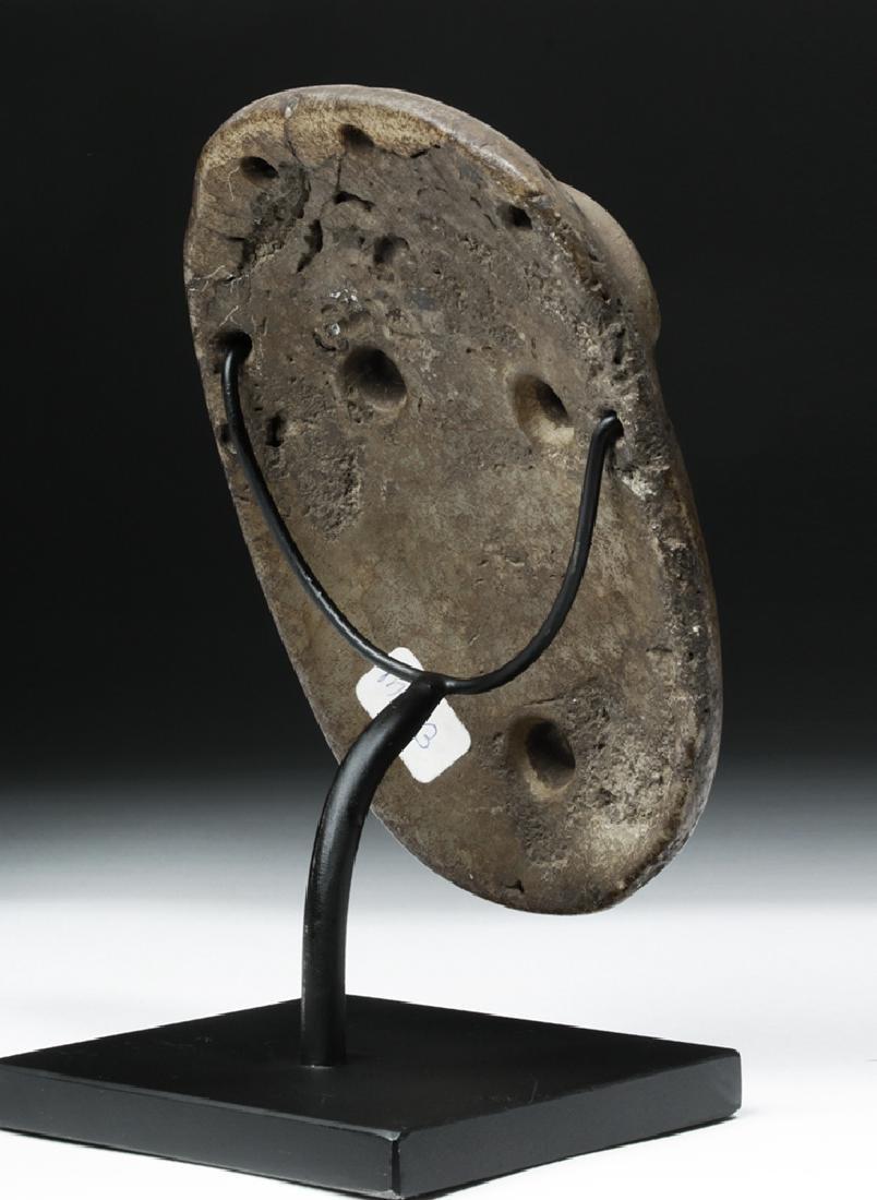 Mapuche Stone Maskette - Astonished Expression - 4