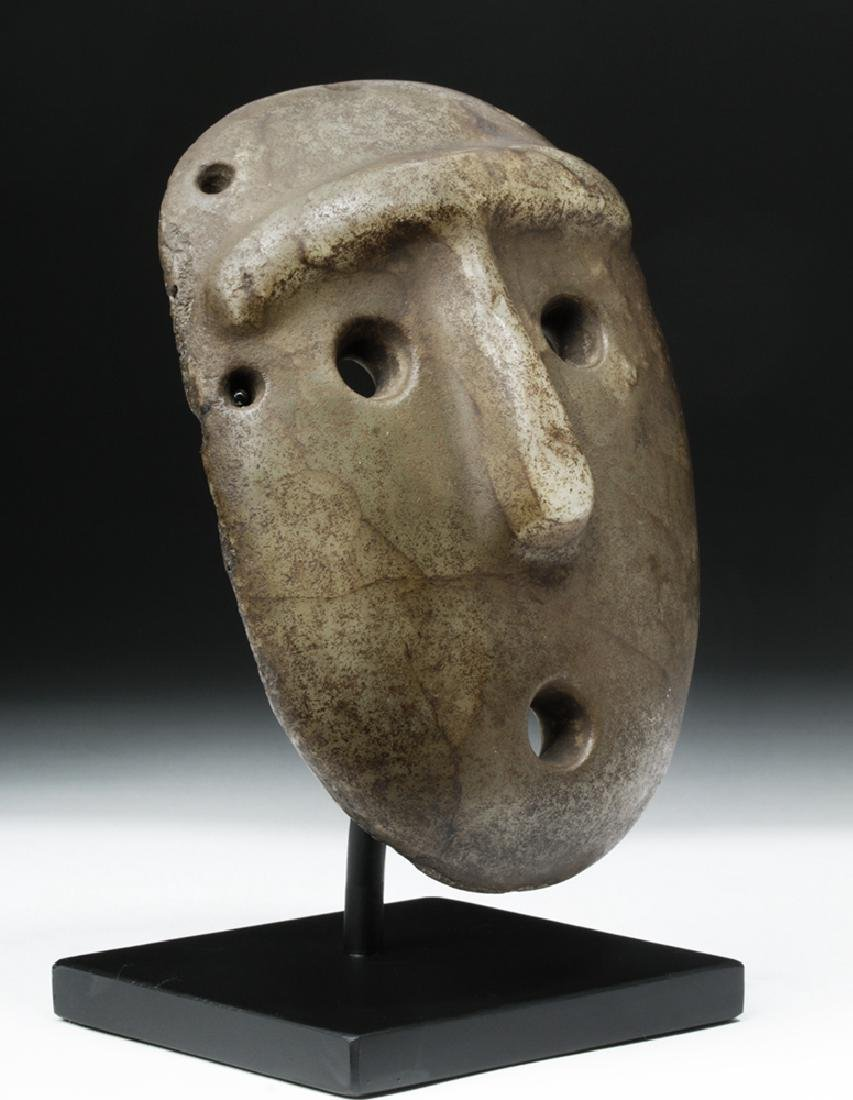 Mapuche Stone Maskette - Astonished Expression - 5