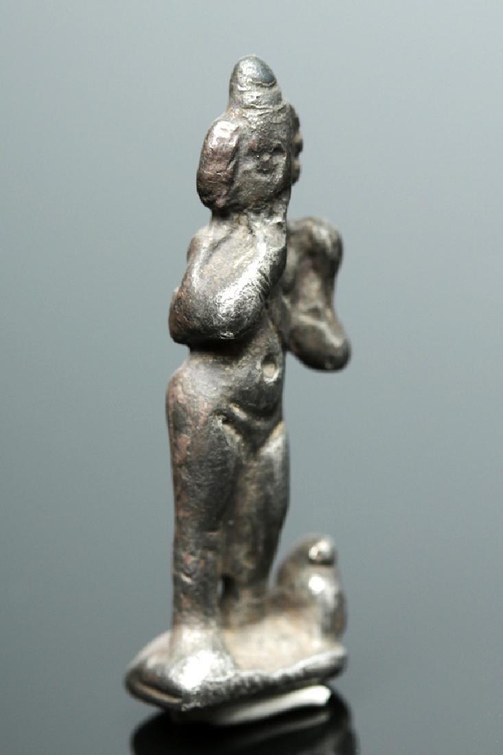 Romano-Egyptian Silver Harpocrates Figure - 4.6 grams - 5