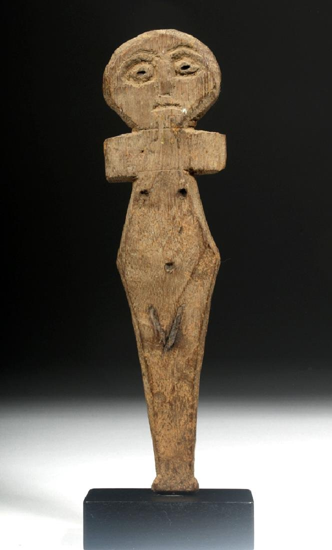 Egyptian Coptic Wood Female Figure, Incised Details