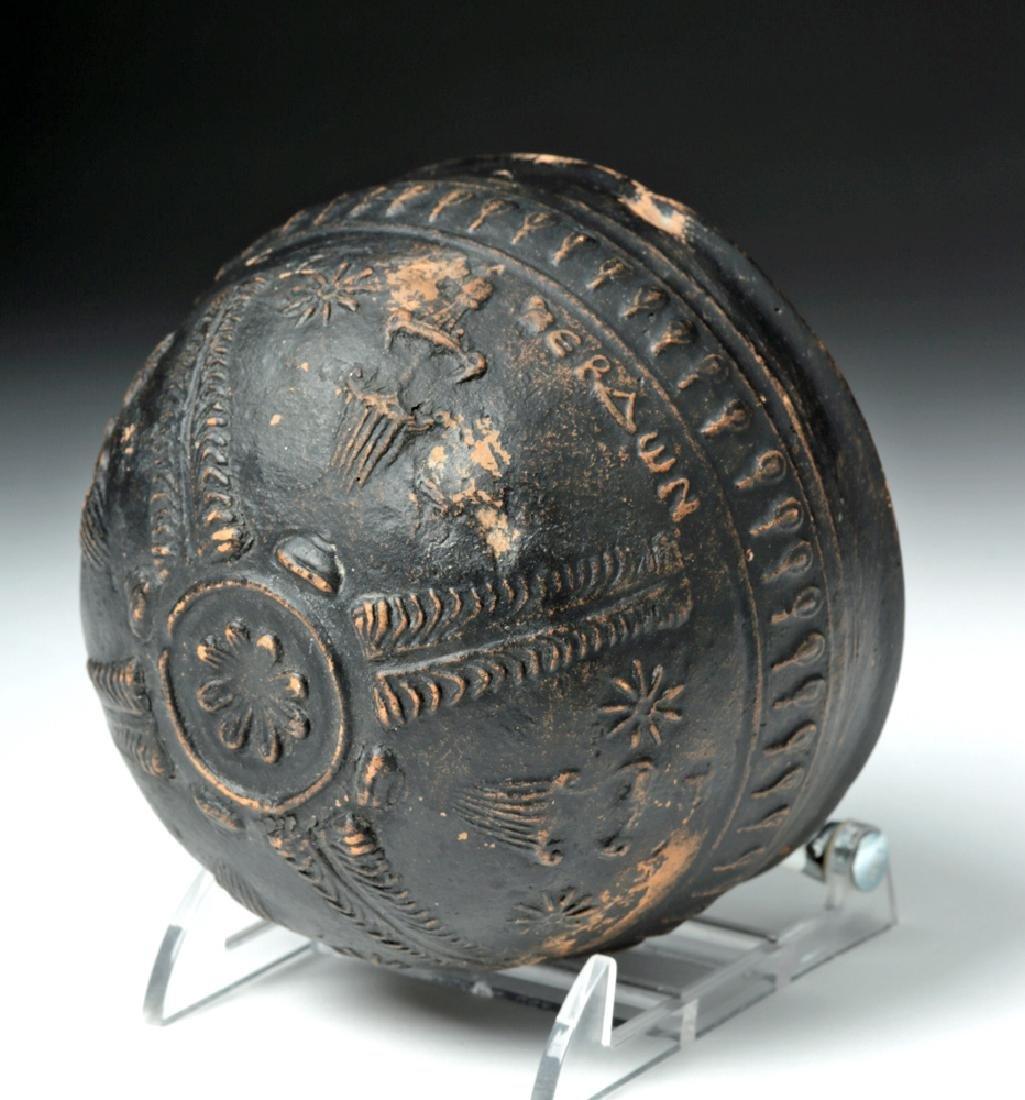 Greek Hellenistic Megarian Ceramic Bowl - Signed