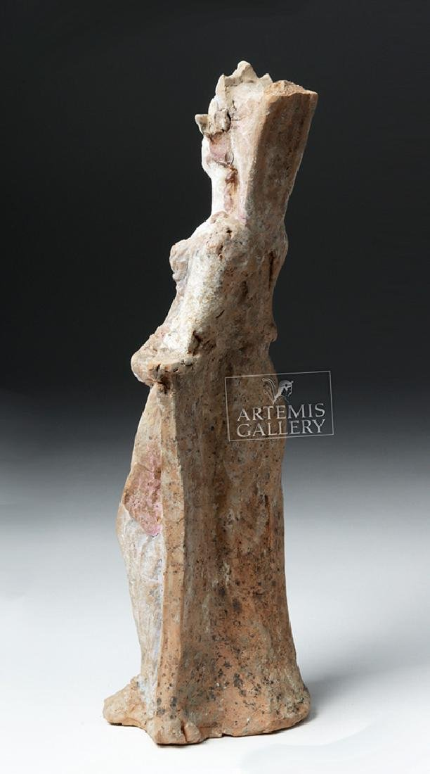 Greek Canosan Pottery Polychrome Standing Goddess - 6