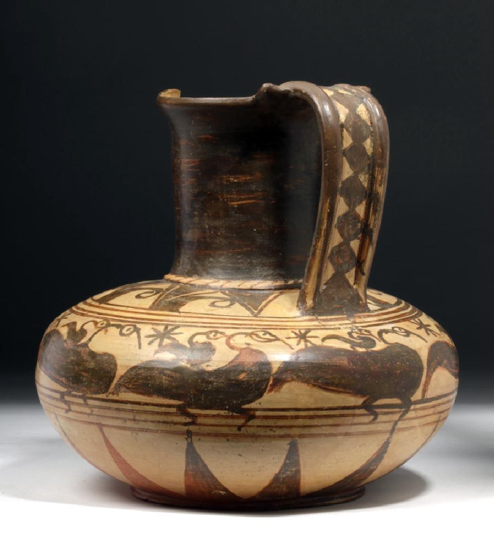 Rare Etruscan Trefoil Oinochoe - Birds - 2