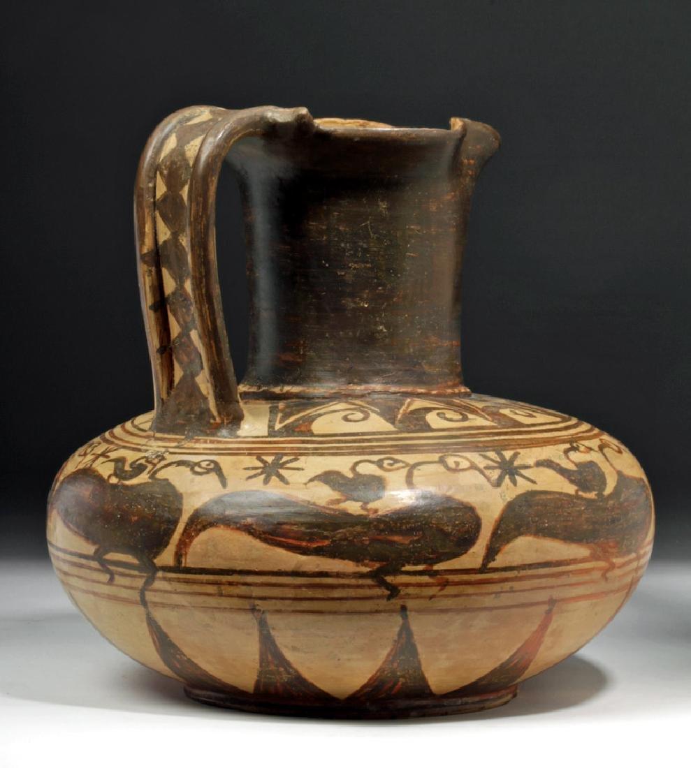 Rare Etruscan Trefoil Oinochoe - Birds - 3