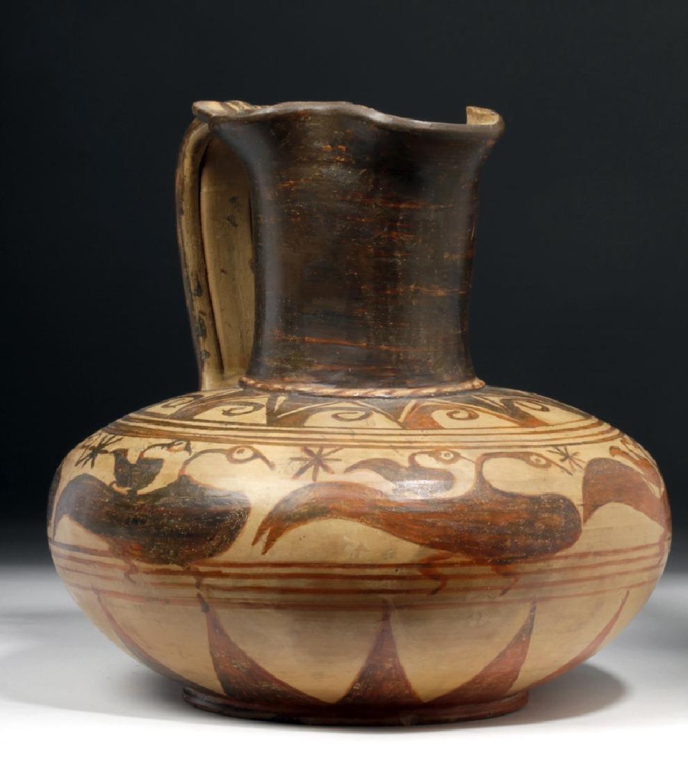 Rare Etruscan Trefoil Oinochoe - Birds - 4