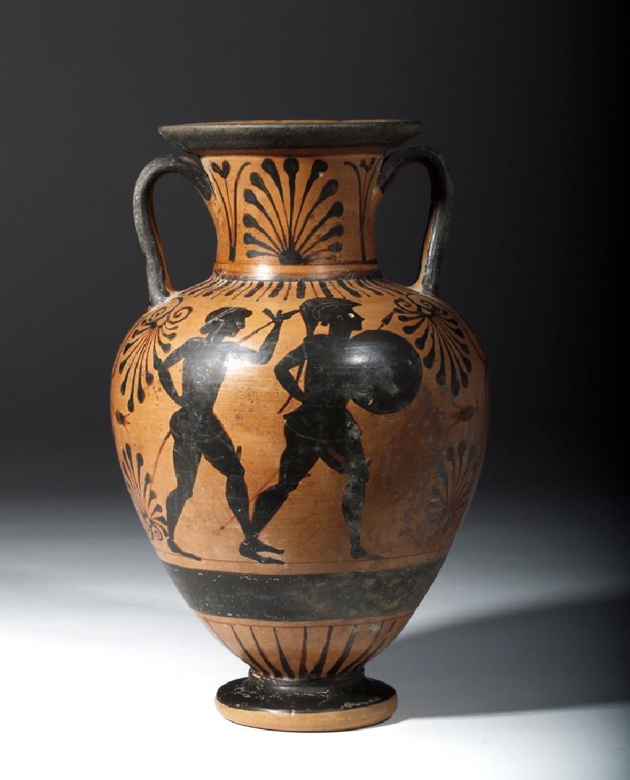 6th C. Etruscan Black-Figure Neck Amphora