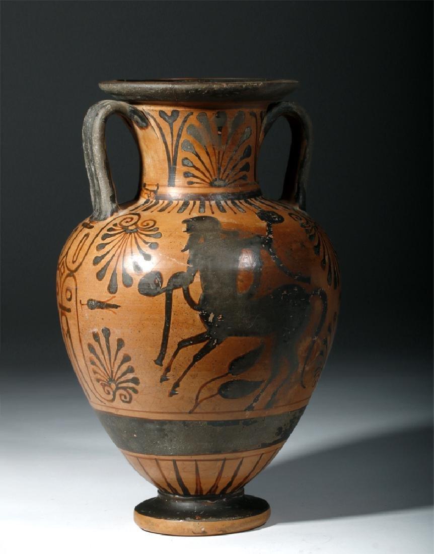 6th C. Etruscan Black-Figure Neck Amphora - 3