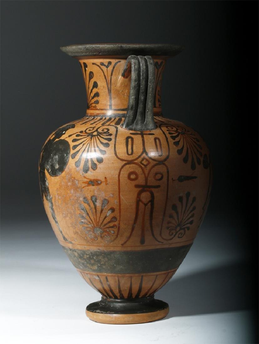 6th C. Etruscan Black-Figure Neck Amphora - 4