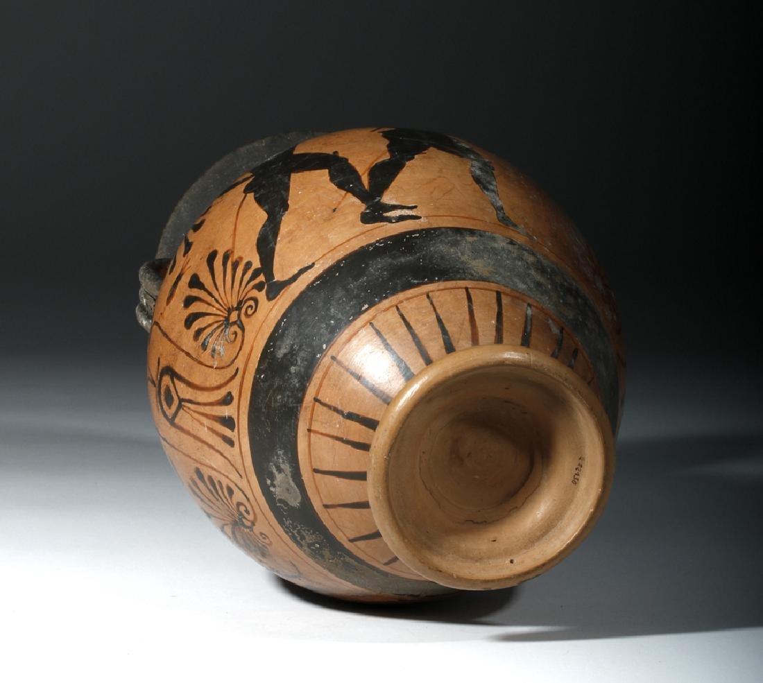 6th C. Etruscan Black-Figure Neck Amphora - 6