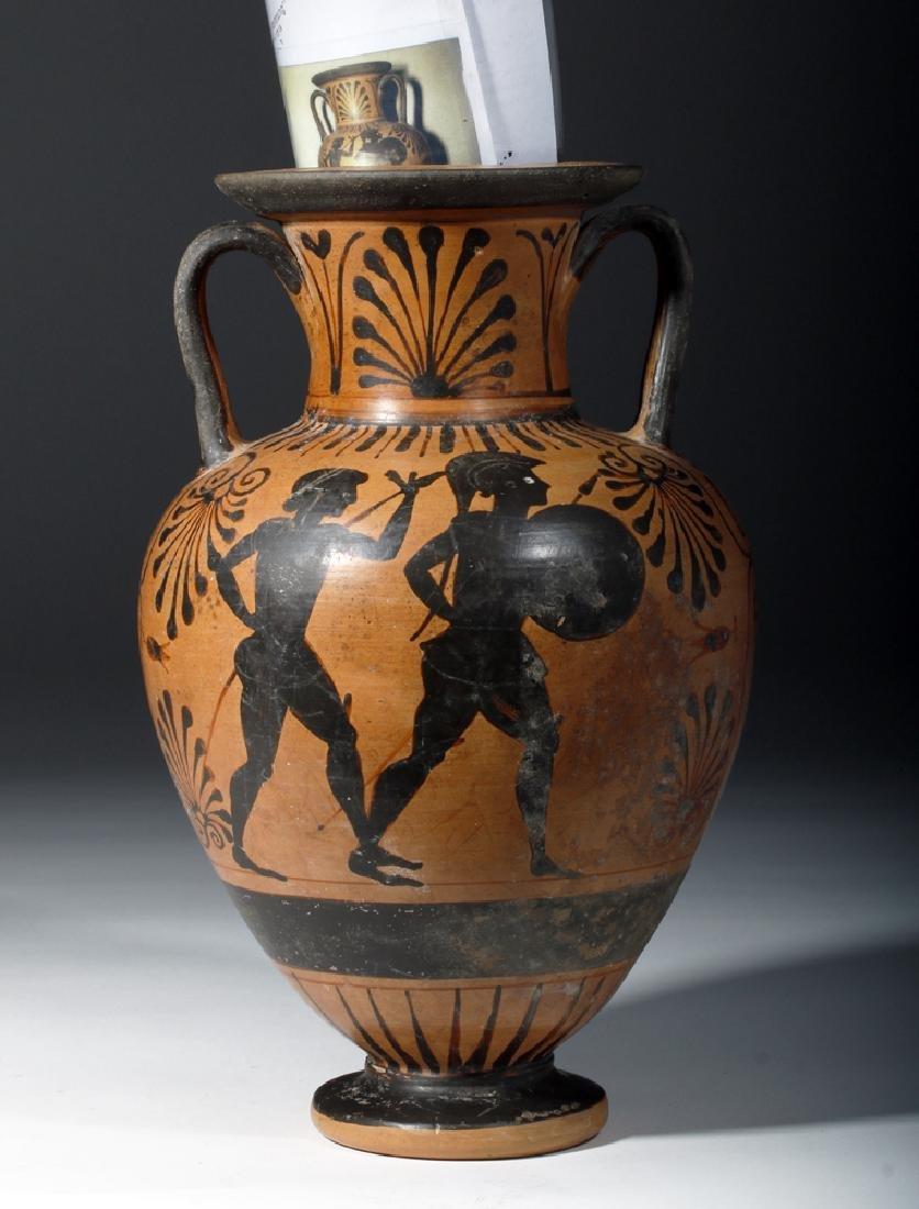 6th C. Etruscan Black-Figure Neck Amphora - 7