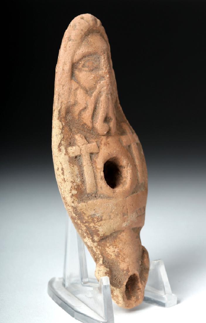Rare Byzantine Terracotta Oil Lamp - Jesus Christ - 2