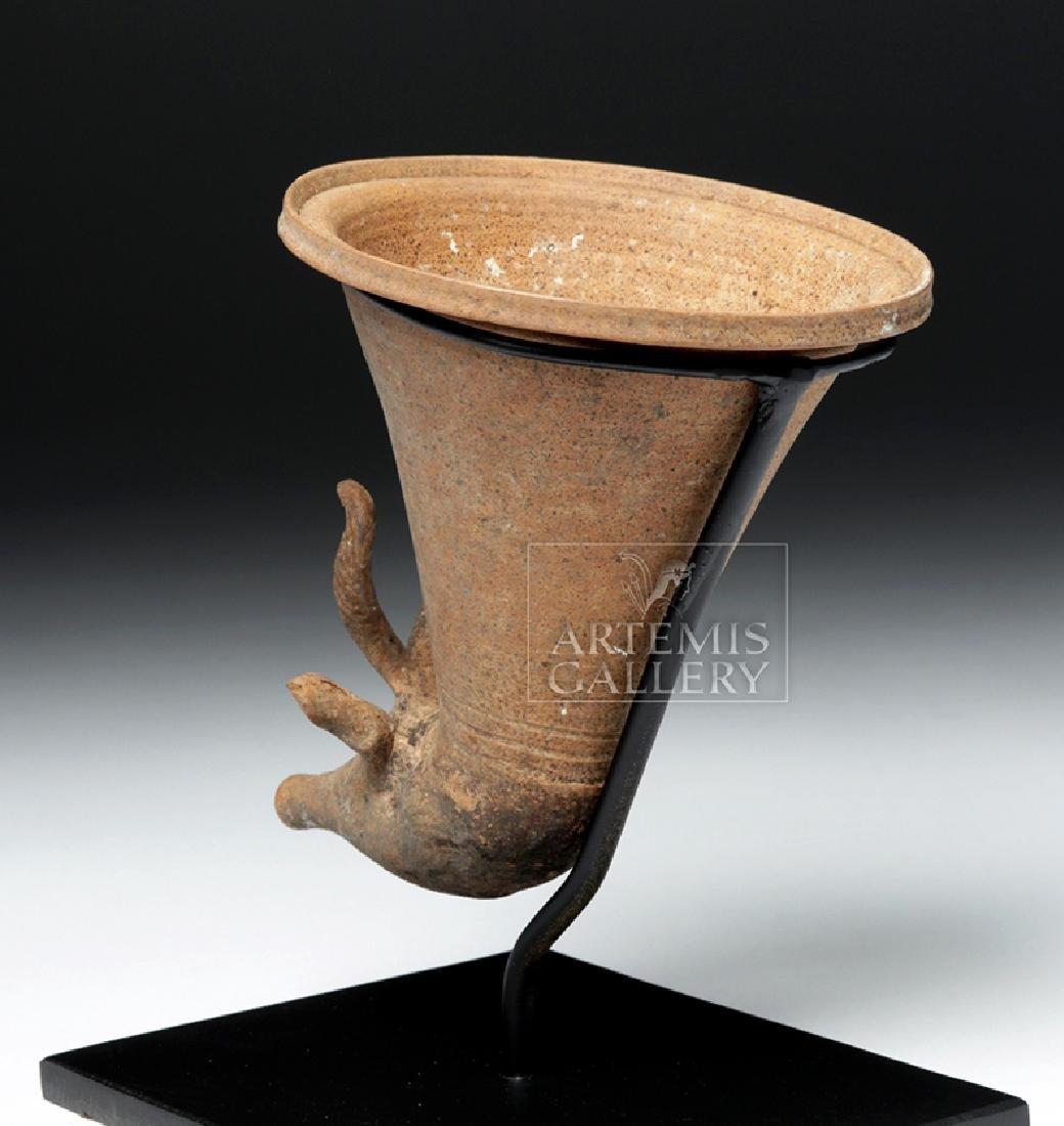 Achaemenid Pottery Antelope Rhyton - 3