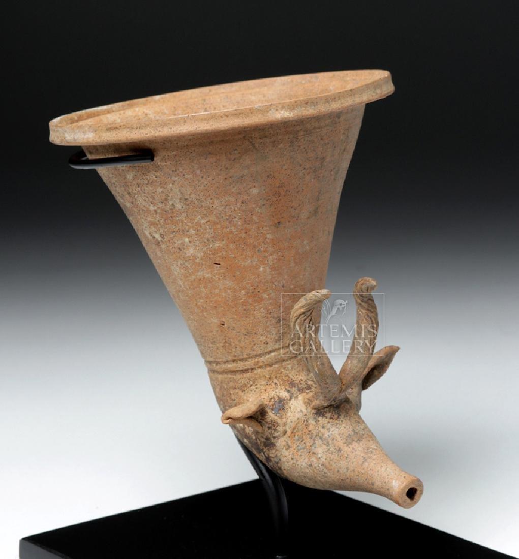 Achaemenid Pottery Antelope Rhyton - 5