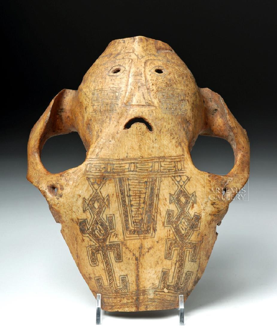 19th C. Indonesia Belu-Atoni Incised Cow Skull Mask