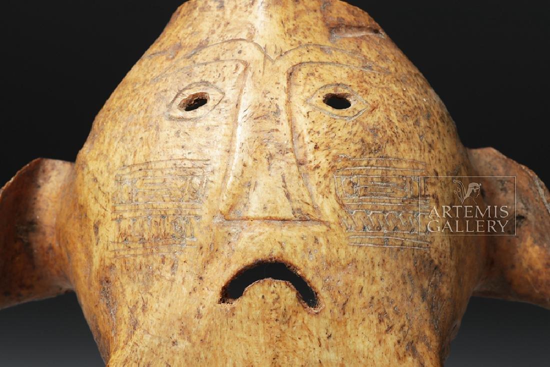 19th C. Indonesia Belu-Atoni Incised Cow Skull Mask - 7