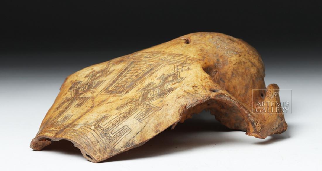 19th C. Indonesia Belu-Atoni Incised Cow Skull Mask - 8