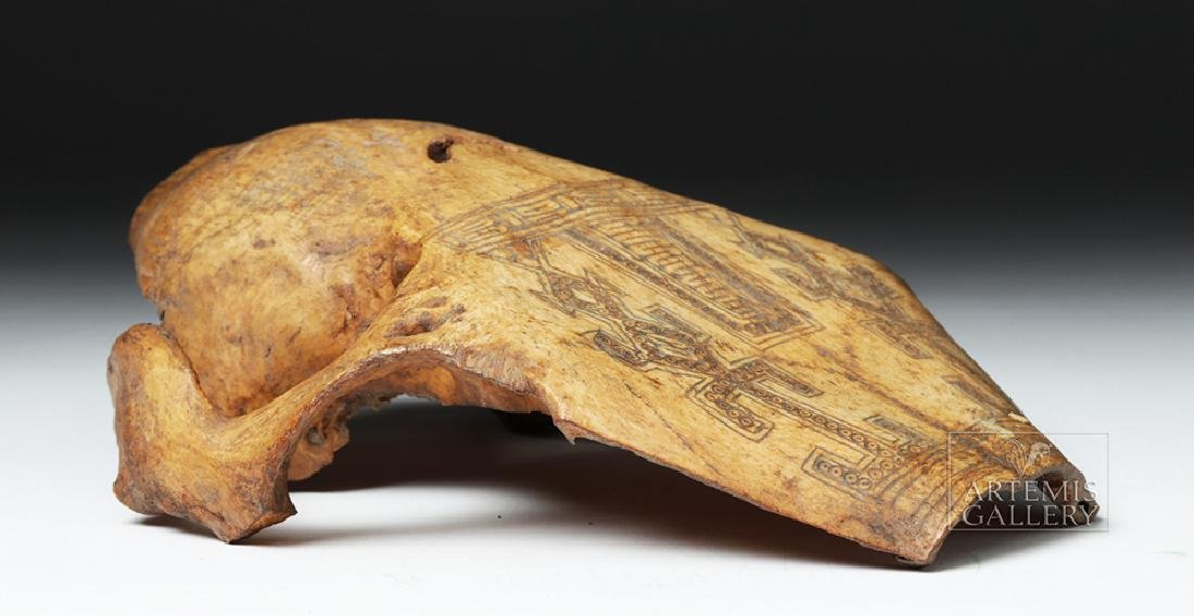 19th C. Indonesia Belu-Atoni Incised Cow Skull Mask - 9