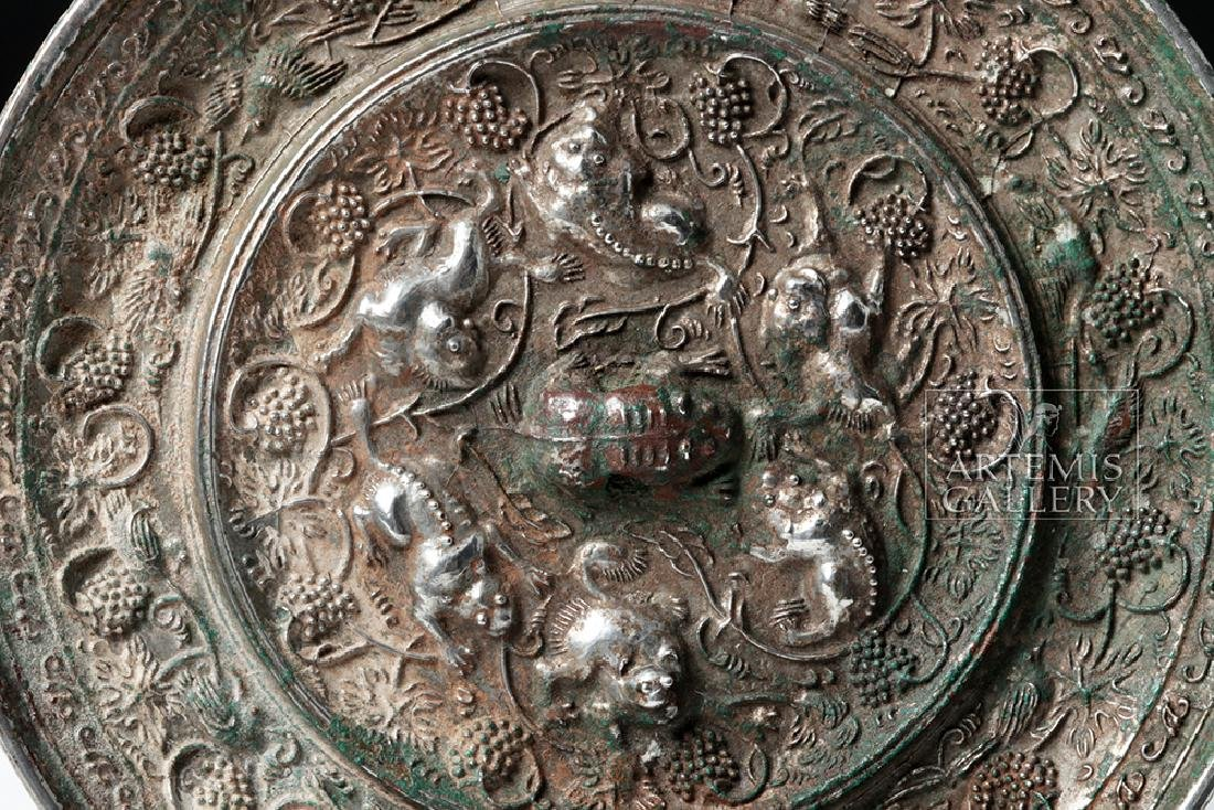 Very Fine Chinese Tang Dynasty Silvered Bronze Mirror - 3