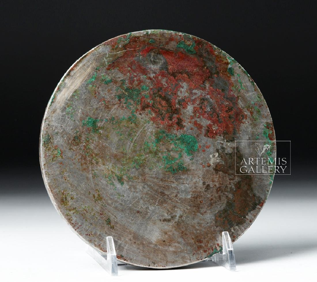 Very Fine Chinese Tang Dynasty Silvered Bronze Mirror - 4