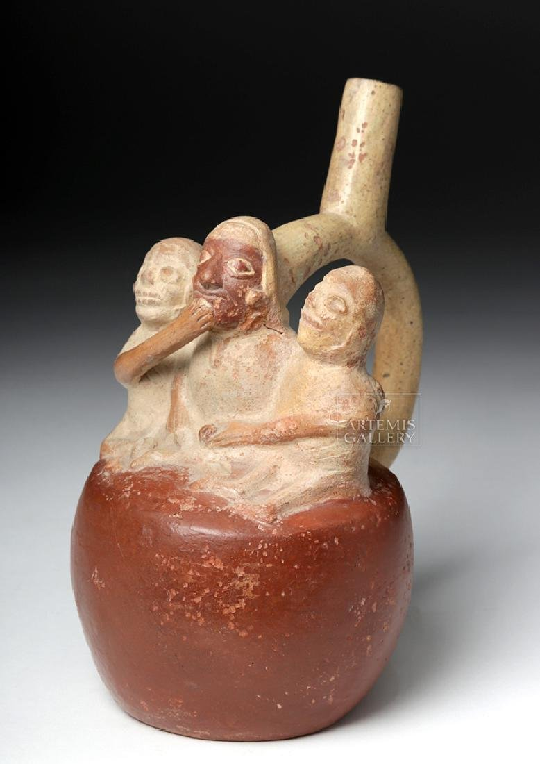 Moche Stirrup Vessel w/ Erotic Death Scene - 6