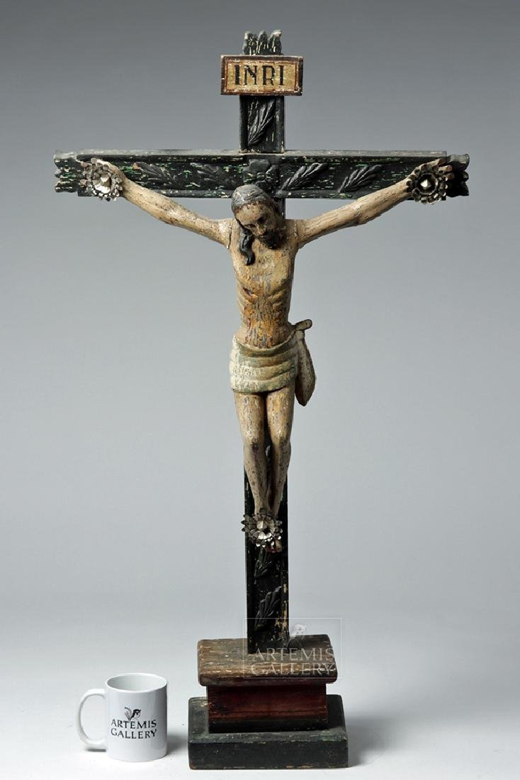 Early 19th C. Mexican Wooden Cristo