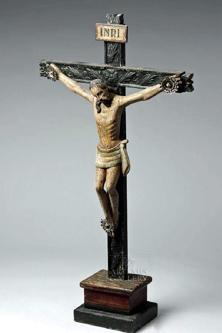 Early 19th C. Mexican Wooden Cristo - 2
