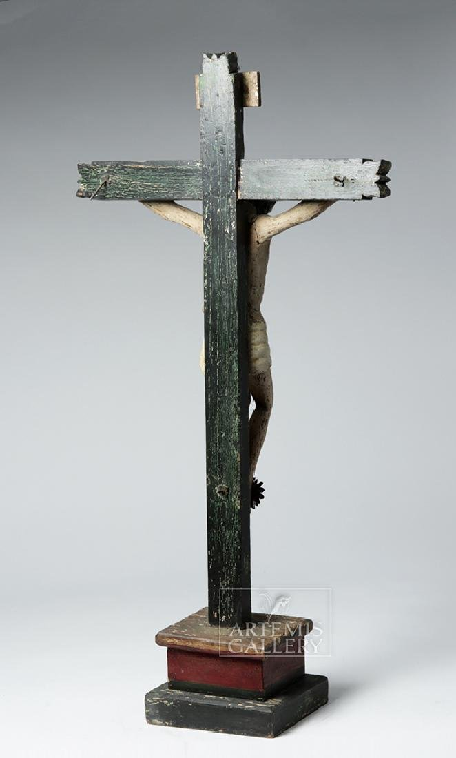 Early 19th C. Mexican Wooden Cristo - 4