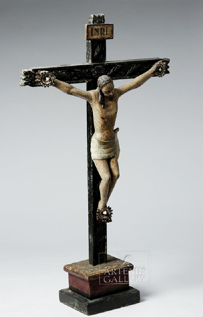 Early 19th C. Mexican Wooden Cristo - 5
