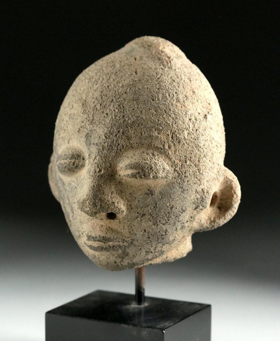19th C. African Akan Terracotta Head