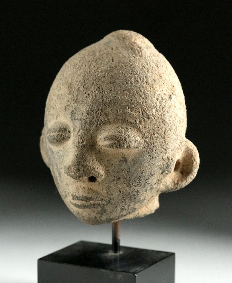 19th C. African Akan Terracotta Head