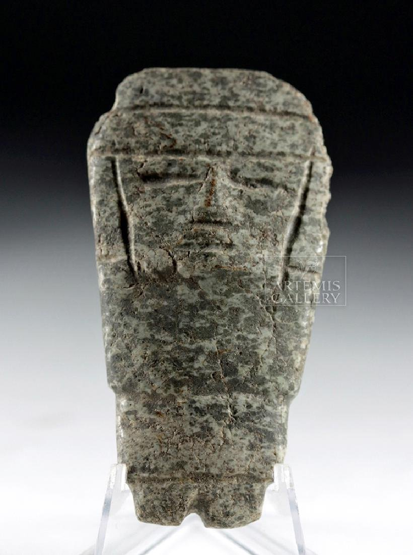 Chontal Greenstone Standing Lord Figure