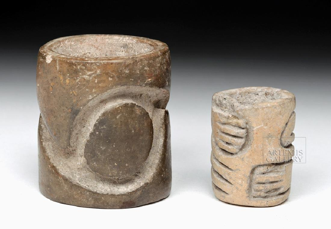 Fine Pair of Classic Olmec Pottery Rollers