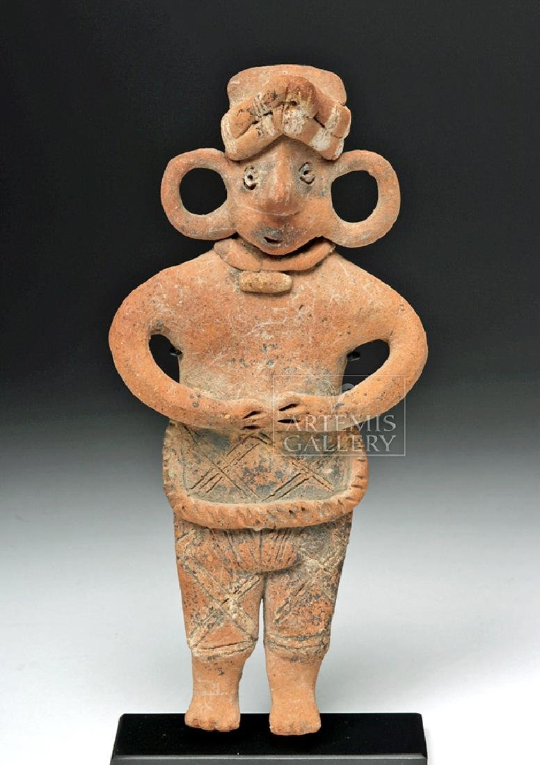 Colima Standing Figure w/ Huge Ear Spool Holes