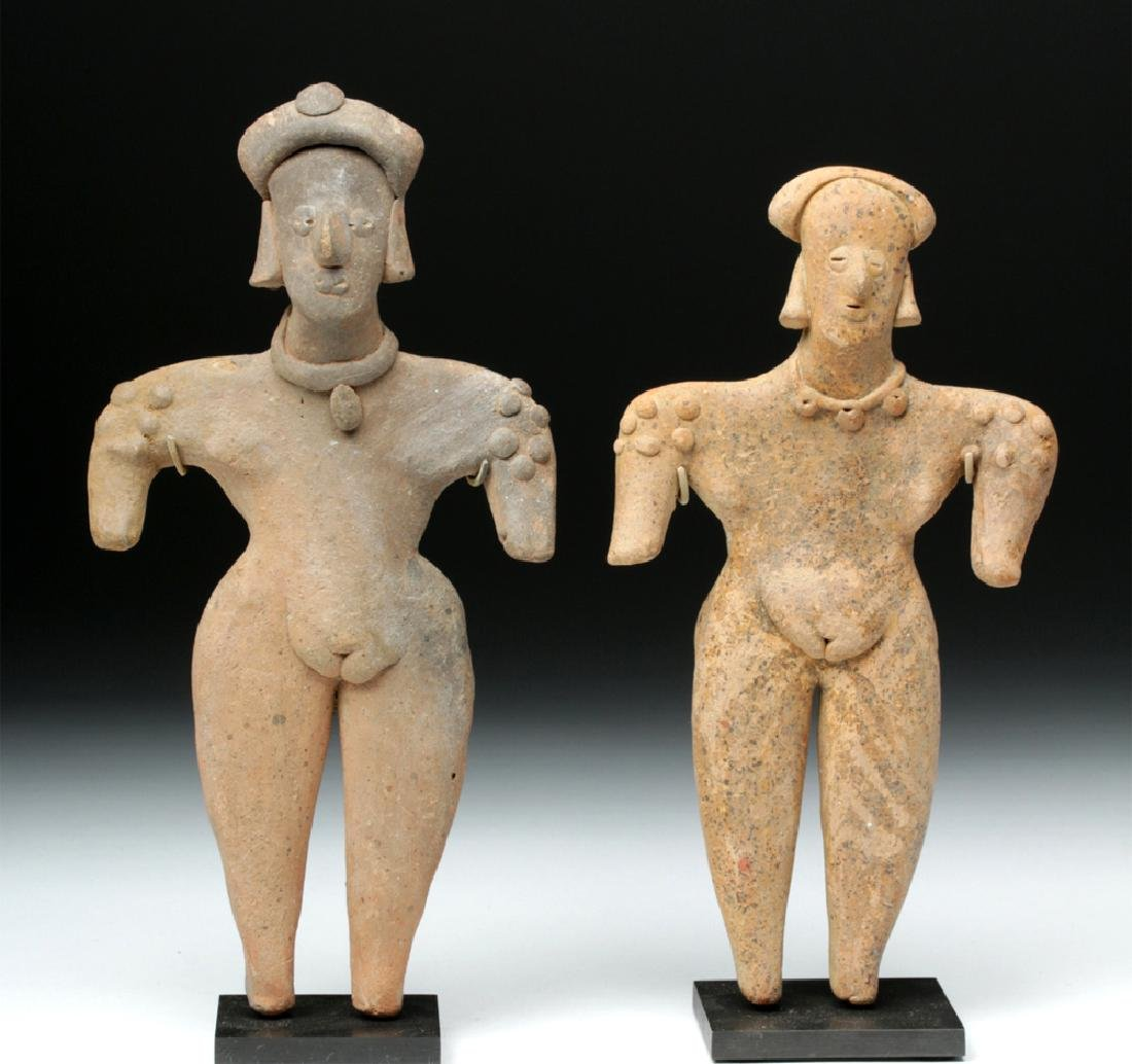 Colima Pottery Gingerbread Female Figures (2)