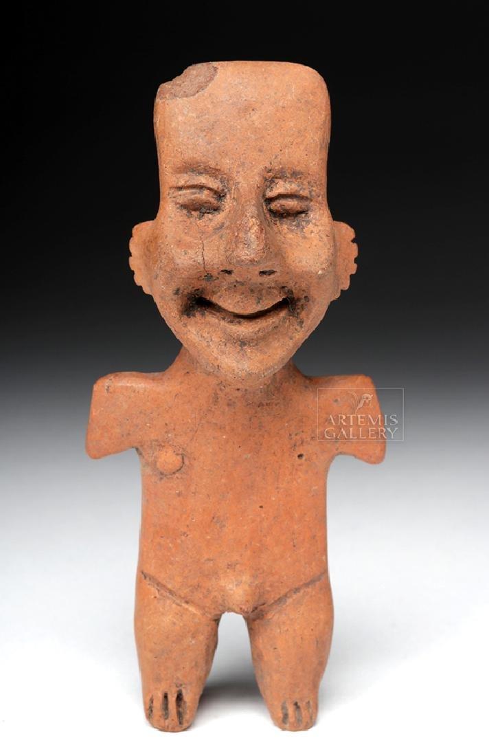Amusing Colima Pottery Standing Male Figure