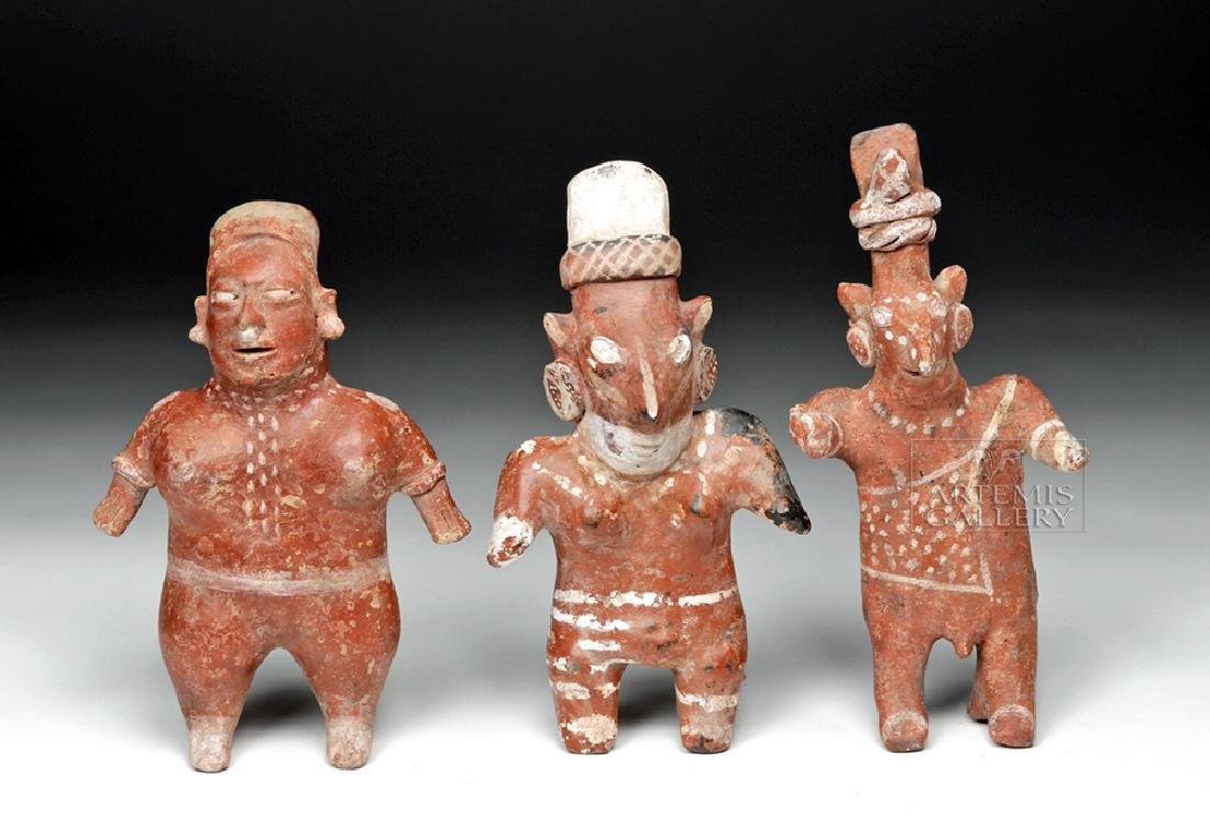 Trio of Jalisco Pottery Figures - Sheepface & Other