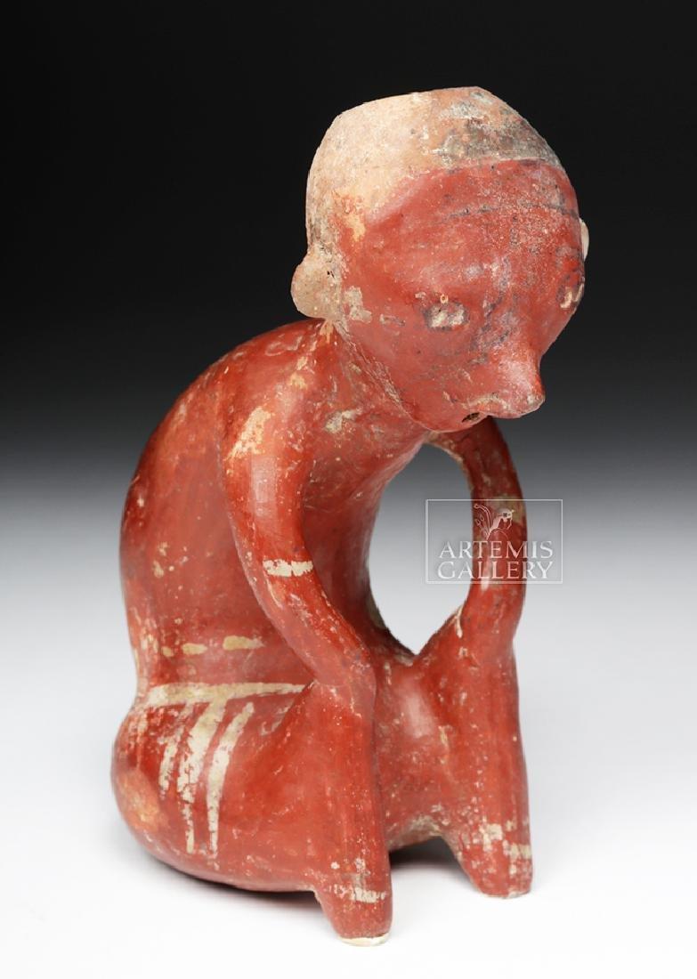 Fine Nayarit Chinesco Hunchback Seated Figure