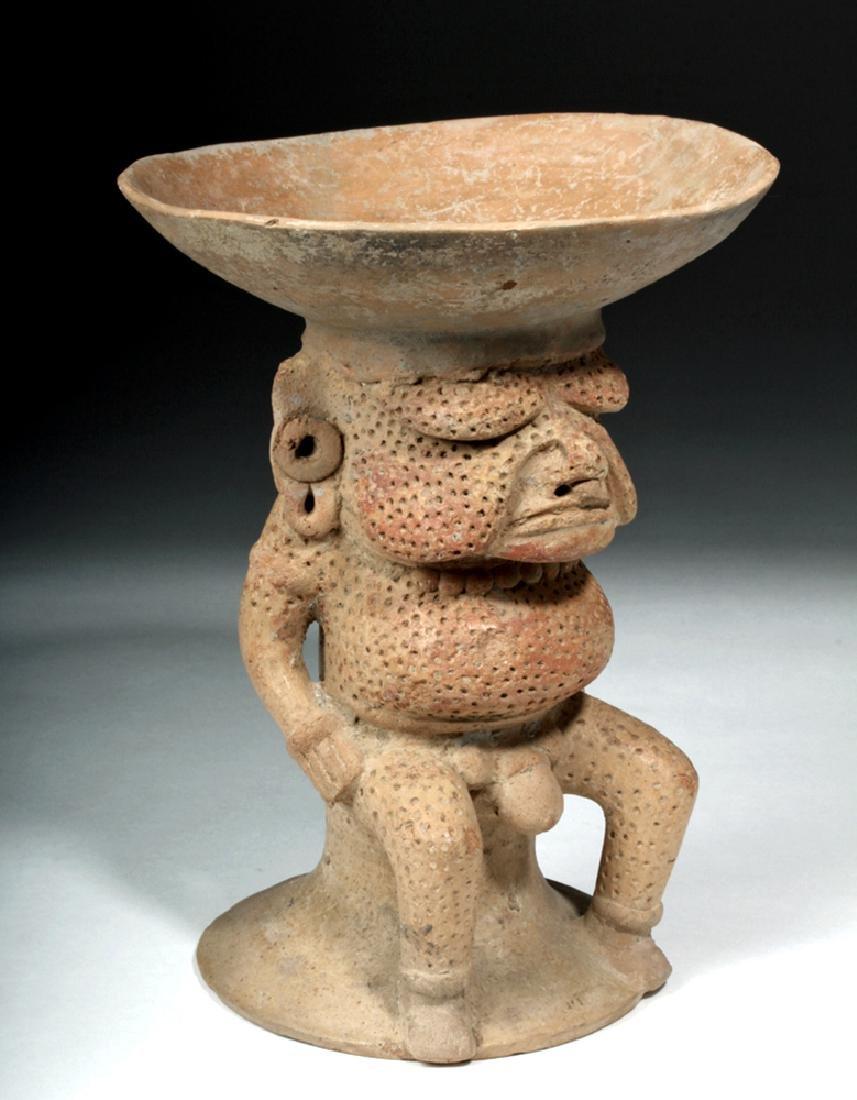 Veracruz Terracotta Incensario of a Nude Elder