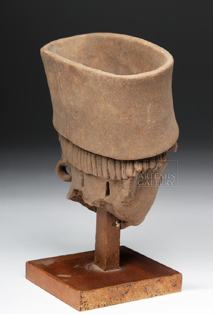 Large / Very Fine Veracruz Terracotta Head - 4