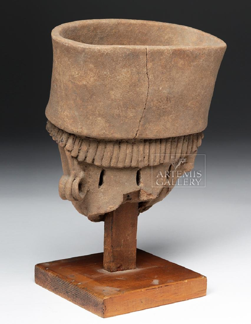 Large / Very Fine Veracruz Terracotta Head - 5