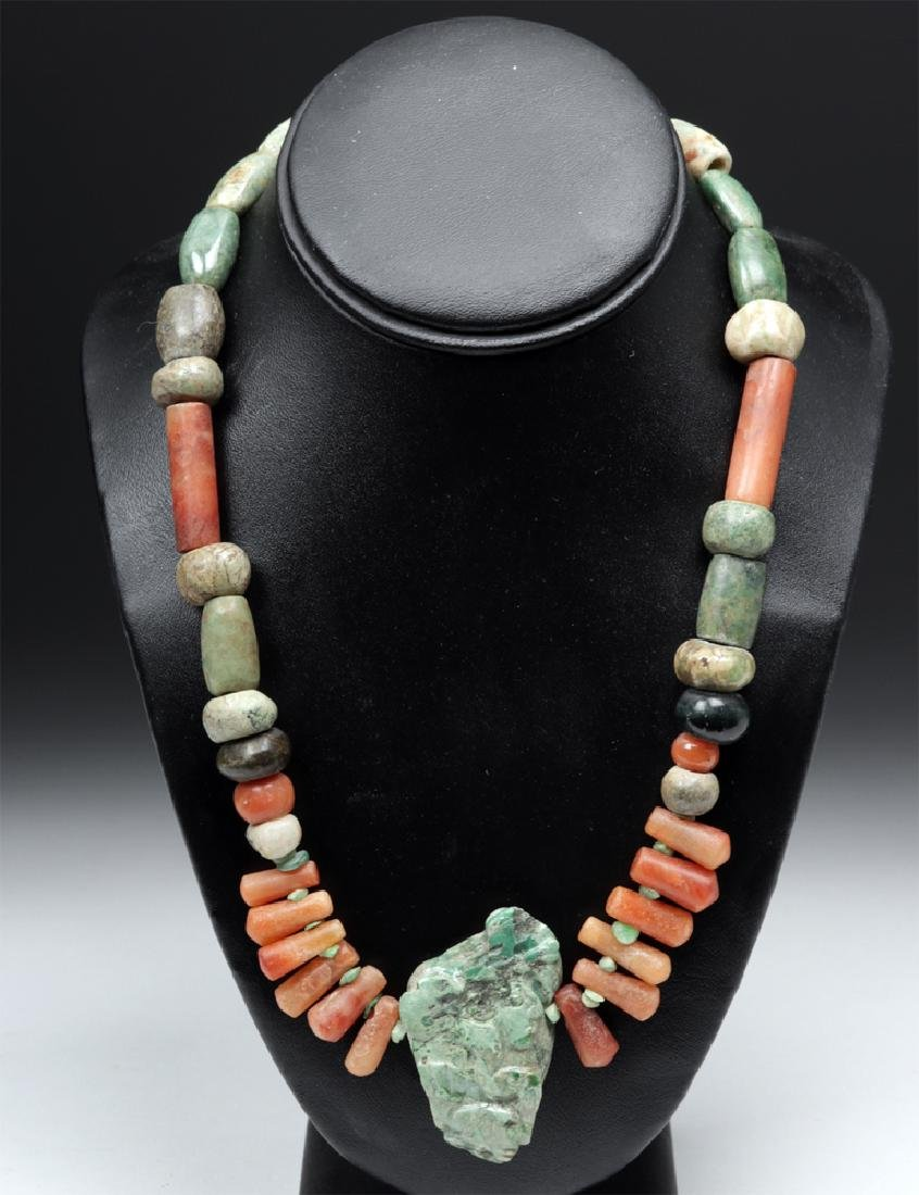 Pre-Columbian Drilled Stone Beaded Necklace