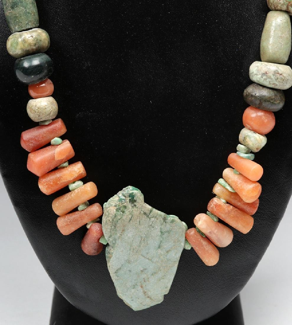Pre-Columbian Drilled Stone Beaded Necklace - 4
