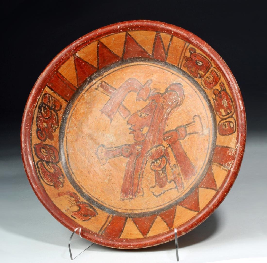 Mayan Polychrome Tripod Plate, ex-Arte Primitivo
