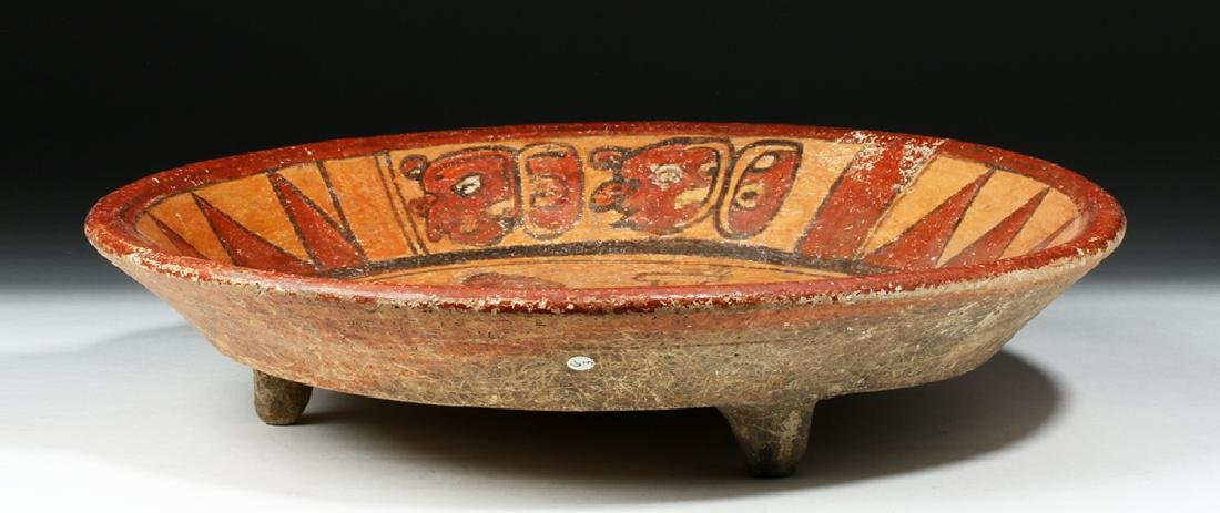Mayan Polychrome Tripod Plate, ex-Arte Primitivo - 3