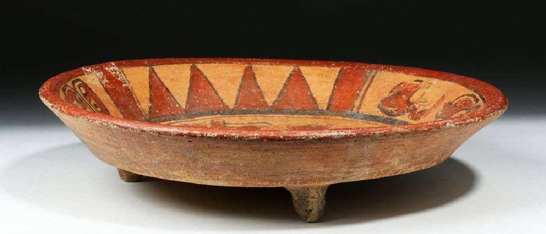 Mayan Polychrome Tripod Plate, ex-Arte Primitivo - 4