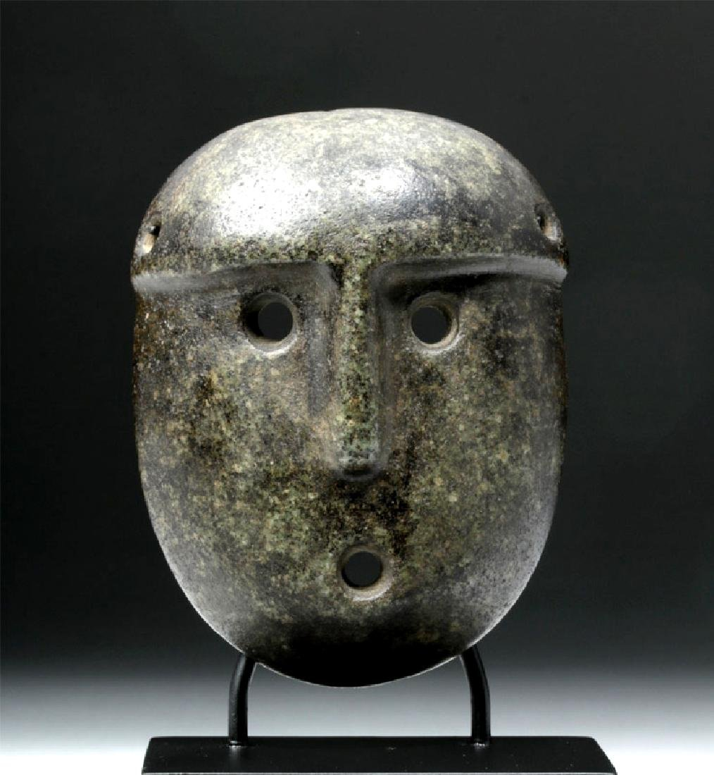 Mapuche Mottled Green Stone Maskette