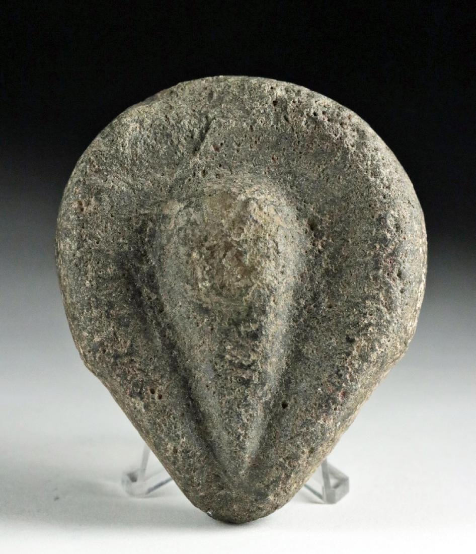 Rare Native American Stone Votive - Stylized Vulva - 2